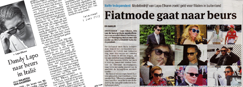 Post image for Italia Independent in Dutch newspapers