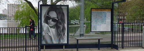 Post image for Esprit exposes in Dutch bus shelters