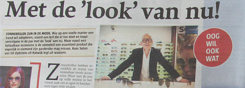Post image for Attention for sunglasses in Dutch media