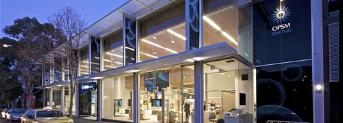 Post image for Opvallende Luxottica Flagshipstore in Melbourne