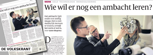 Post image for Dutch optician promotes his work in newspaper