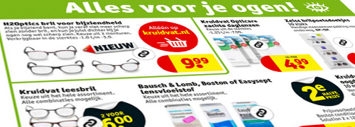 Post image for Kruidvat adverteert met kant-en-klare brillen