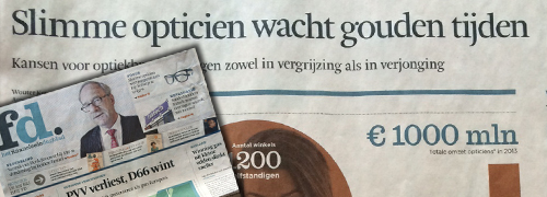 Post image for Financieel Dagblad ziet kansen voor opticiens