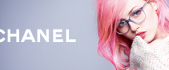 Thumbnail image for Karl Lagerfeld photographs Charlotte Free for Chanel Eyewear