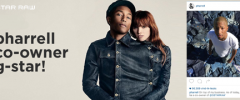 Thumbnail image for Pharrell Williams wordt mede-eigenaar van G-Star RAW