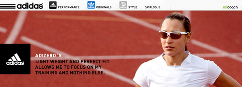 Post image for Cool new website by adidas eyewear
