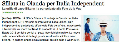 Post image for Fête de la Vue creëert publiciteit in Italië