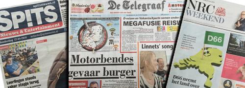 Post image for Kranten zetten (zonne)brillen in de spotlights