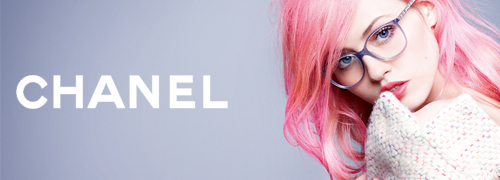 Post image for Karl Lagerfeld photographs Charlotte Free for Chanel Eyewear