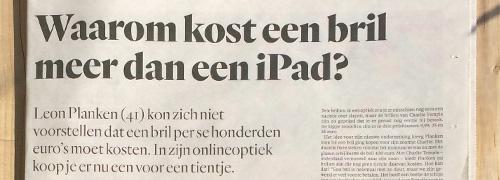 Post image for Waarom kost een bril meer dan een iPad?