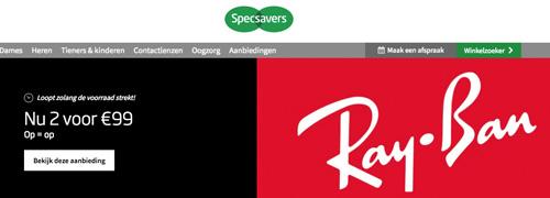 Post image for Specsavers vraagt lage prijs voor Ray-Ban