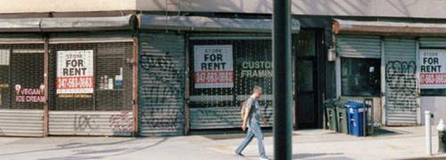 Post image for Bloeiende economie, leegstaande winkelpanden