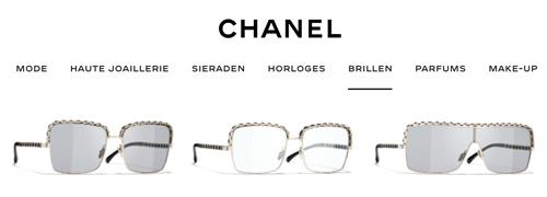 Post image for Chanel brillen en zonnebrillen nu ook online te koop