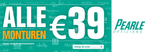 Post image for All branded eyewear only 39 euro at Pearle Netherlands