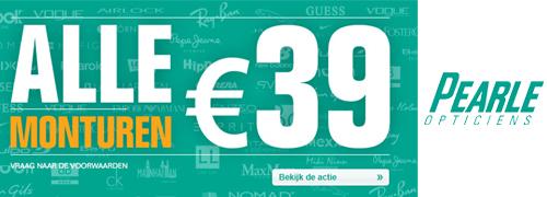 Post image for Alle merkbrillen bij Pearle 39 euro
